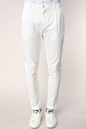 Pantalon slim écru léger à pinces Blake – Scotch & soda