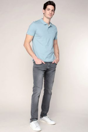 Polo bleu logo brodé Perfect – Jack & Jones