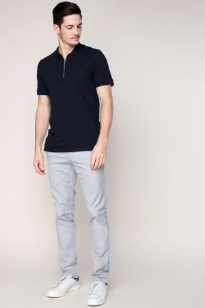 Polo indigo foncé col zippé Zip polo – Jack & Jones