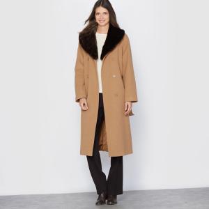 Manteau, laine et cachemire, long 110cm. ANNE WEYBURN.
