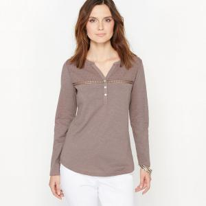T-shirt pur coton flammé. ANNE WEYBURN.
