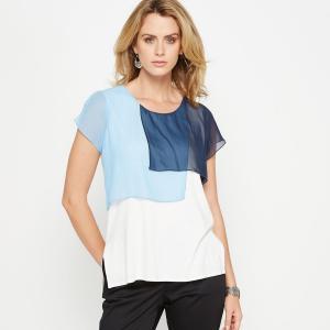 T-shirt bi-matière. ANNE WEYBURN.