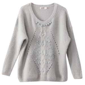 Pull manches longues broderies. MOLLY BRACKEN.