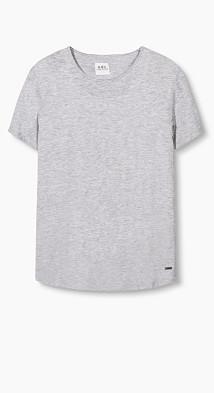 T-shirt long en jersey, 100 % coton  Esprit