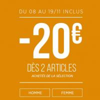 20€ de réduction dès 2 articles Bonobo achetés