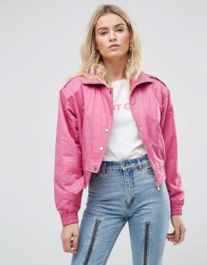 ASOS – Bomber style 80's – Rose fluo – Rose