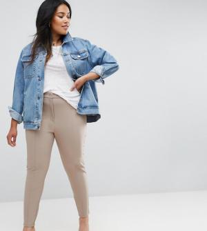 ASOS CURVE – Pantalon ajusté coupe ultime – Rose