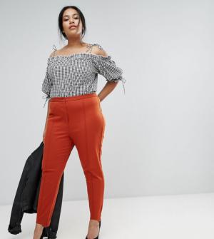 ASOS CURVE – Pantalon fuseau délavé – Orange