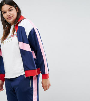 ASOS Curve – Top de survêtement avec empiècements color block (ensemble – Multi