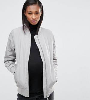 ASOS Maternity – Bomber d'hiver – Gris