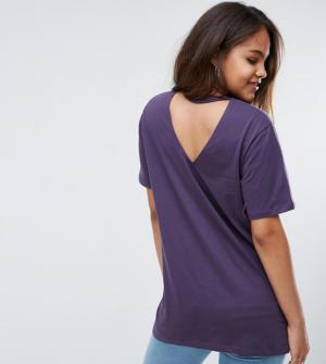 ASOS TALL – T-shirt avec découpe au dos – Violet
