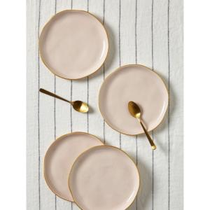Assiette à dessert à bord doré par lot de 4 CYRILLUS