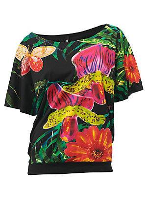 Blouse ample Desigual à motif fleuri tropical estival null Desigual noir