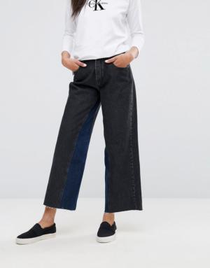 Calvin Klein Jeans – Jean court large – Noir