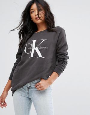 Calvin Klein Jeans – Sweat griffé – Noir