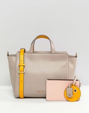 Calvin Klein – Julienne – Tote bag de taille moyenne – Marron
