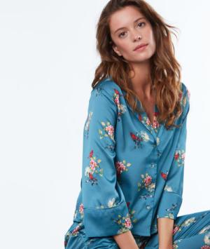 Chemise de pyjama d´homme imprimé fleuri Etam