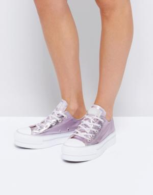Converse – Chuck Taylor All Star Ox – Baskets métallisées à plateforme – Rose  ...