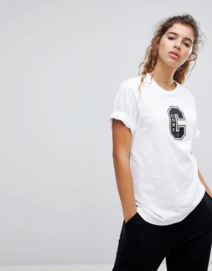 Converse – Cons – T-shirt à manches courtes avec logo – Blanc