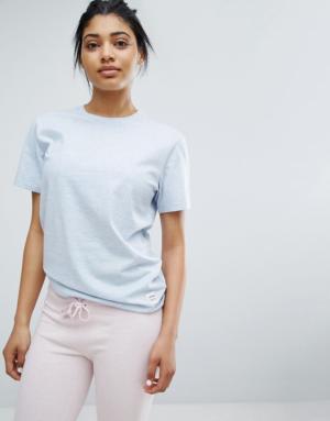 Converse – Essentials – T-shirt ample de première qualité – Bleu