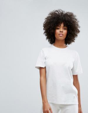 Converse – Essentials – T-shirt ample de première qualité – Gris