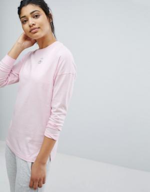 Converse – T-shirt à manches longues – Rose – Rose