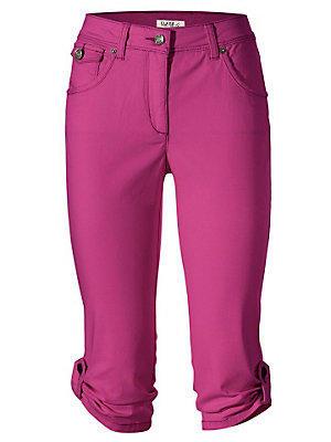 Corsaire en jean ajusté femme Ashley Brooke violet