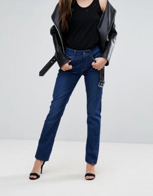 G-Star – 3301 Contour – Jean droit taille haute – Bleu