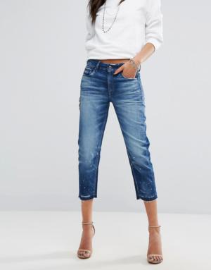 G-Star – 3301 – Jean coupe masculine taille mi-haute à ourlet brut – Bleu