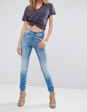 G-Star – 3301 – Jean super skinny à taille très haute – Bleu