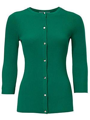 Gilet court en tricot femme Ashley Brooke vert