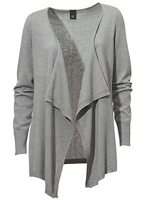 Gilet en tricot fin femme B.C. Best Connections gris
