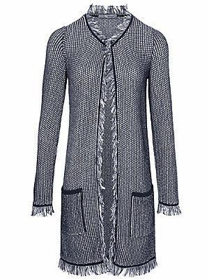 Gilet long en tricot femme Ashley Brooke bleu