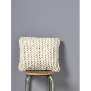 Housse de coussin tricot en laine CYRILLUS