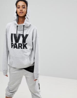 Ivy Park – Hoodie avec logo – Gris – Gris