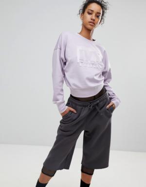 Ivy Park – Sweat-shirt avec logo en relief – Lilas – Rose