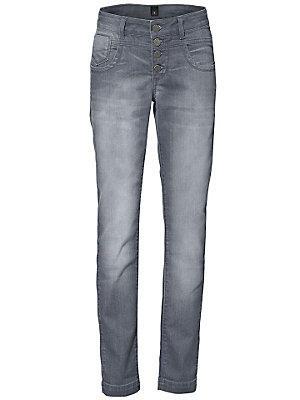 Jean gris à taille haute, coupe flatteuse pour femme femme B.C. Best Connections gris