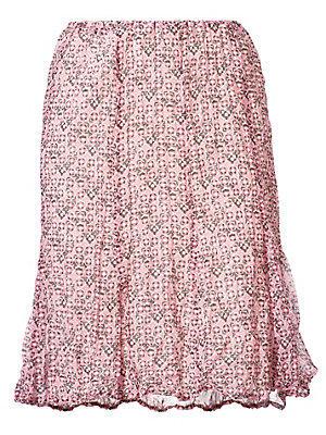 Jupe légère à petits motifs, effet froissé tendance femme Ashley Brooke rouge