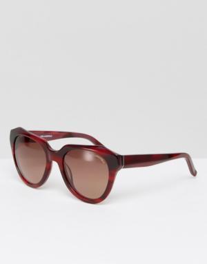 Karl Lagerfeld – Lunettes de soleil effet marbré – Marron