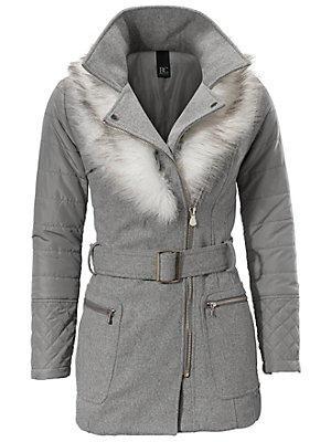 Manteau court femme B.C. Best Connections gris