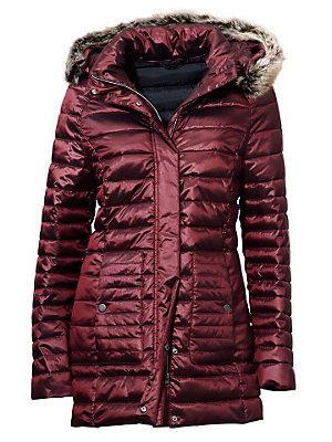 Manteau doudoune bordeaux pour femme à capuche femme Ashley Brooke rouge