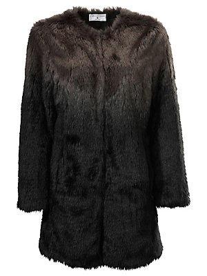 Manteau en fausse fourrure femme Rick Cardona noir