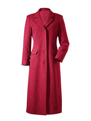 Manteau long uni forme caban à poches pour femme femme B.C. Best Connections rouge
