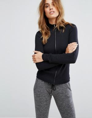 Micha Lounge – Top de jogging en maille – Noir