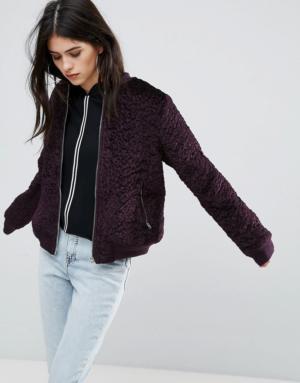 Missguided – Veste en laine mélangée – Violet