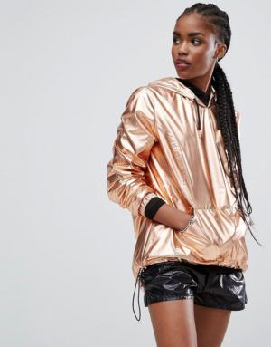 New Look – Anorak métallisé à enfiler – Cuivre