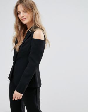 New Look – Veste ajustée épaules nues – Noir