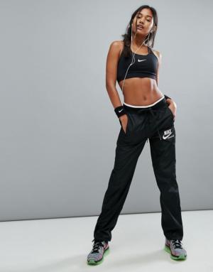 Nike – Archive – Pantalon tissé avec fermeture éclair – Noir
