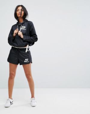 Nike – Archive – Short tissé avec fermeture éclair – Noir