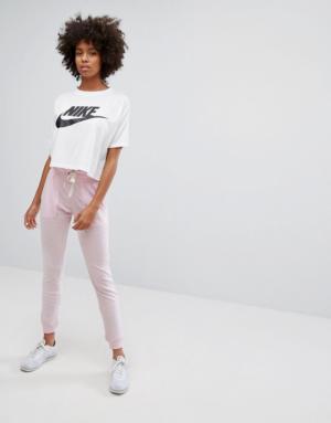 Nike – Pantalon de survêtement style vintage – Rose – Rose